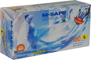 Majestic Glove 3282 M-Safe Industrial Grade Disposable Nitrile Glove Powdered 12 Mil Glove, Sold 10 Boxes / Case