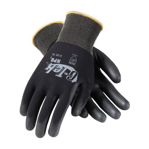 PIP 33-325 G-Tek GP Heavy Weight Seamless Knit Nylon Glove with Extra Thick Polyurethane Coated Smooth Grip on Palm & Fingers - Box/12 Pairs