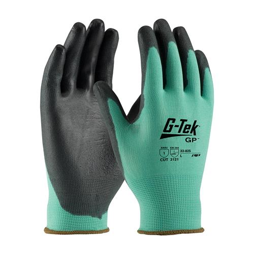PIP 33-825 G-Tek GP Medium Weight Seamless Knit Nylon Glove with Polyurethane Coated Smooth Grip on Palm & Fingers - Box/12 Pairs