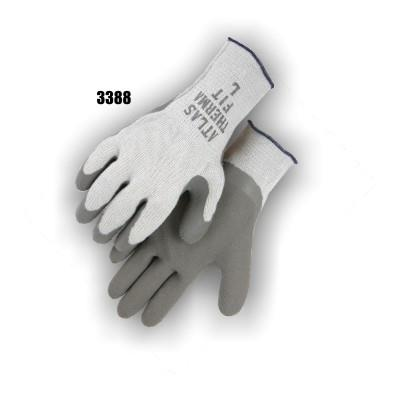 Majestic 3388 Winter Knit Gloves, Fleece Lined with Rubber Coated Wrinkled Palm, Box/12 Pairs