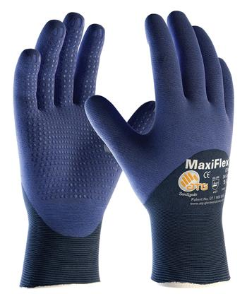 PIP 34-245 MaxiFlex Elite Ultra Light Weight Seamless Knit Nylon Glove, Nitrile Coated MicroFoam Grip Palm, Fingers & Knuckles - Micro Dot Palm - Box/12 Pairs