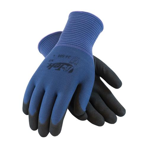 PIP 34-500 G-Tek GP Seamless Knit Nylon Glove with Nitrile Coated MicroSurface Grip on Palm & Fingers - 13 Gauge - Box/12 Pairs