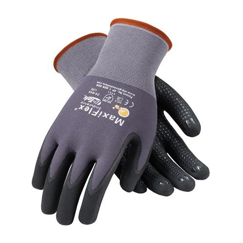 PIP 34-844 MaxiFlex Endurance Seamless Knit Nylon Glove with Nitrile Coated MicroFoam Grip on Palm & Fingers - Micro Dot Palm - Box/12 Pairs