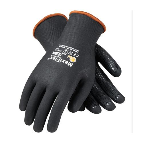 PIP 34-8745 MaxiFlex Endurance Seamless Knit Nylon / Lycra Glove with Nitrile Coated MicroFoam Grip on Full Hand - Micro Dot Palm - Box/12 Pairs