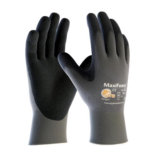 PIP 34-900 MaxiFoam Lite Seamless Knit Nylon Glove with Nitrile Coated Foam Grip on Palm & Fingers - Box/12 Pairs