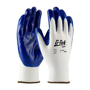 PIP 34-C229 G-Tek GP Seamless Knit Nylon Glove with Nitrile Coated Smooth Grip on Palm & Fingers - Box/12 Pairs