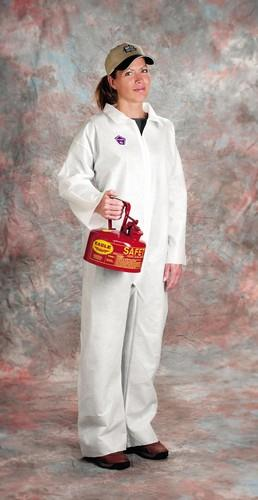 West Chester 3400, PE LAMINATE White Disposable Coveralls