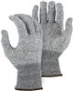 Majestic 35-2501 Cut-Less Watchdog Cut Resistant Gloves, HPPE 13 Gauge Seamless Knit, ANSI Cut Level 4, FDA Certified, Sanitized Actifresh Coating, Box/3 Pairs