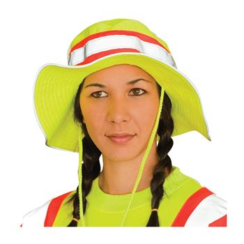 PIP 350-Ranger Hi Visibility Ranger Style Hat, ANSI Compliant, Contrast Trim, Keeps Head Ventilated & Cool, Hi Vis Yellow