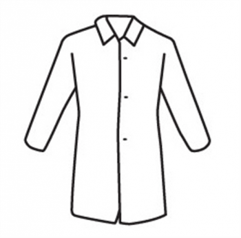 West Chester 3511 SBP White Lab Coat, No Pocket - Standard Weight - Case/30