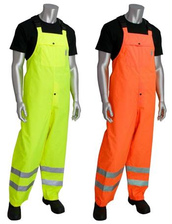 PIP 353-2001 Falcon Viz Plus Class E Heavy Duty Waterproof Breathable Bib, Hi Vis Yellow or Hi Vis Orange