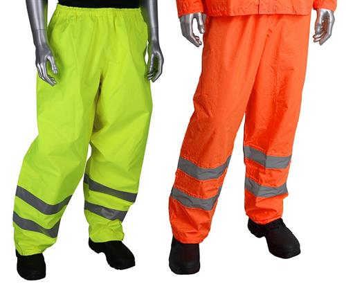 PIP 353-2002 Falcon Viz Plus Class E Heavy Duty Waterproof Breathable Rain Pants, Hi Vis Yellow or Hi Vis Orange