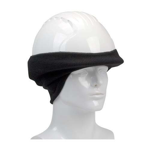 PIP 365-1510FR-BK FR Rib Knit Hard Hat Tube Liner - Ears & Neck