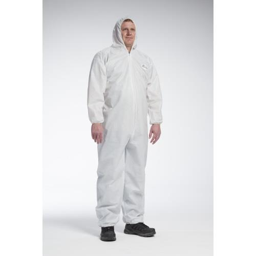West Chester 3706 POSI-WEAR Ultimate Barrier White Disposable Coveralls (Tyvek Alternative) Elastic Wrists, Ankles & Hood - Case/25