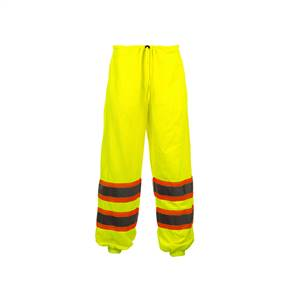 GSS Safety 3803 Class E Standard Two Tone Mesh Pants - Lime