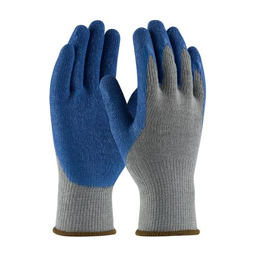 PIP 39-C1305 G-Tek Seamless Knit Cotton / Polyester Glove with Latex Coated Crinkle Grip on Palm & Fingers - Regular Grade - Box/12 Pairs