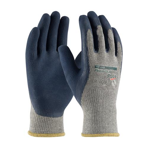 PIP 39-C1600 PowerGrab Plus Seamless Knit Cotton / Polyester Glove with Latex Coated MicroSurface Grip on Palm & Fingers - Box/12 Pairs