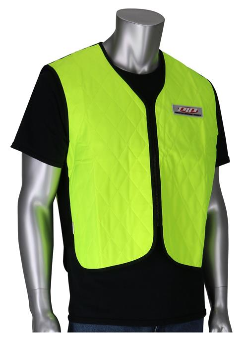 PIP 390-EZ100 EZ-Cool Evaporative Cooling Vest, Hi Vis Yellow, Heat Stress Protection