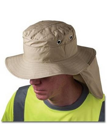 PIP 396-425-KHK Evaporative Cooling Ranger Hat With Neck Shade, Khaki, Box 12