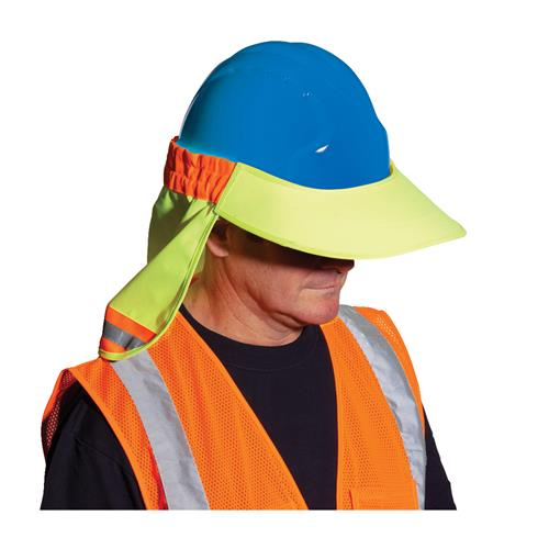 PIP EZ-Cool Hard Hat Visor & Neck Shade, High Visibility Yellow With Silver Reflective, #396-800-YEL, Box/12