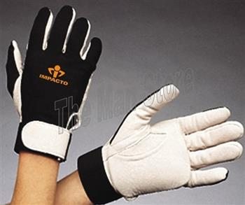 MPACTO 403-30 Full Finger Nylon Lycra® and Pearl Leather Anti-Impact Glove, Viscolas™ VEP Padded Palm