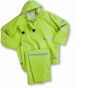 WestChester 4031 Lime 3-Piece .35mm PVC on Polyester Class I Rain Suit