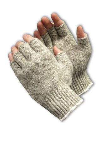 PIP 41-075L Seamless Knit Ragwool Glove - Half-Finger - Large - Box/12 Pairs