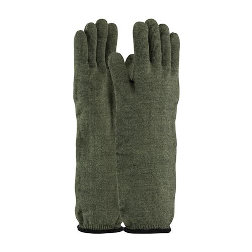 PIP 43-858L Kut-Gard Kevlar / Preox Seamless Knit Hot Mill Glove with Cotton Liner - Extended Cuff, ANSI Cut Level A4 - Large - Box/6 Pairs