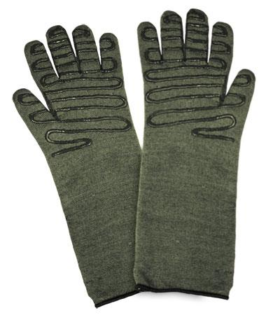 PIP 43-859L Kut-Gard Kevlar / Preox Seamless Knit Hot Mill Glove with Cotton Liner and Double-Sided SilaGrip Coating - Extended Cuff - Large - Box/ 6 Pairs