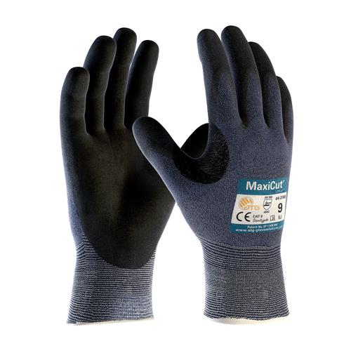 PIP 44-3745 MaxiCut Ultra Seamless Knit Engineered Yarn Glove with Premium Nitrile Coated MicroFoam Grip on Palm & Fingers - Box/12 Pairs