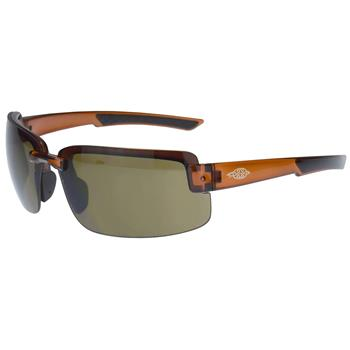 Crossfire ES6 Premium Safety Eyewear, 441107 - HD Brown Lens, Crystal Brown Frame, Box/12