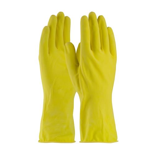PIP 48-L160Y Assurance Unsupported Latex, Flock Lined with Honeycomb Grip - 16 Mil - Box/12 Pairs