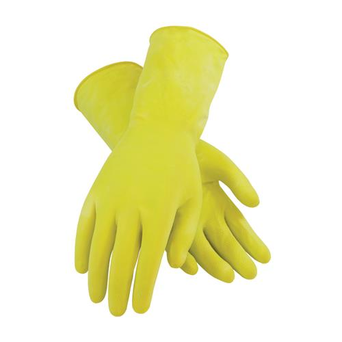 PIP 48-L162Y Assurance Unsupported Latex, Flock Lined with Honeycomb Grip - 16 Mil - Box/12 Pairs