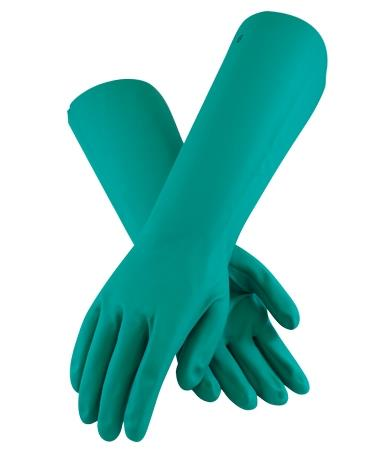PIP Assurance 50-N2272G Unsupported Nitrile Gloves, 22 Mil, Overall Length 18 Inches, Green, Unlined, Raised Diamond Grip, Straight Cuff, Box- 1 Dozen Pairs