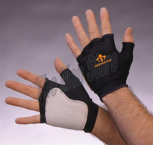 "IMPACTO 501-10 Fingerless Anti-Impact Glove, Nylon Lycra & Suede Leather, Viscolasâ""¢ VEP Padded Palm"