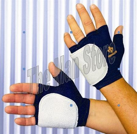 "IMPACTO 503-10 Fingerless Anti-Impact Glove, Nylon Lycra & Suede Leather with Viscolasâ""¢ VEP Padded Palm/Side & Back of Hand"
