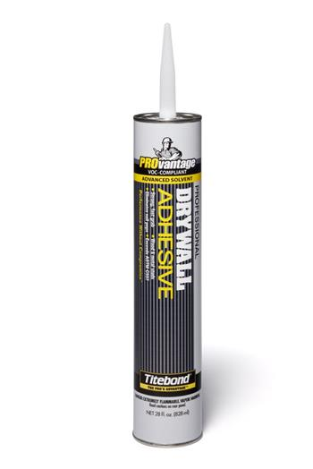 Titebond 5342 PROvantage Professional Drywall Adhesive, VOC Compliant, 28 oz. Cartridge, Case/12