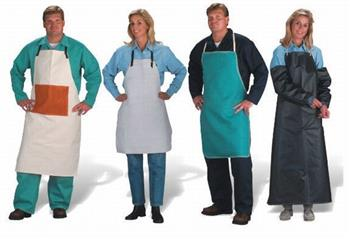 "Chicago Protective Apparel - 536-CL Rust or Gray Split Leather Welder's 36"" Apron"