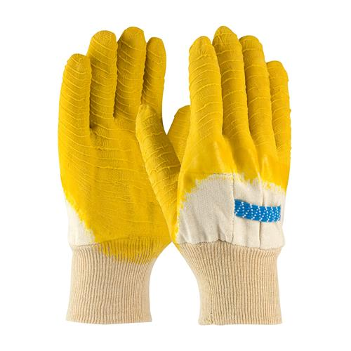 PIP 55-3271 Armor Latex Coated Glove with Jersey Liner and Crinkle Finish on Palm, Fingers & Knuckles - Knitwrist - Box/12 Pairs