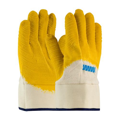 PIP 55-3273 Armor Latex Coated Glove with Jersey Liner and Crinkle Finish on Palm, Fingers & Knuckles - Plasticized Safety Cuff - Box/12 Pairs