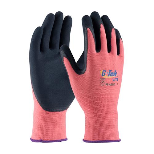 PIP 55-AG315 G-Tek Lite Polyester Shell with Latex Coated MicroSurface Grip - Box/12 Pairs