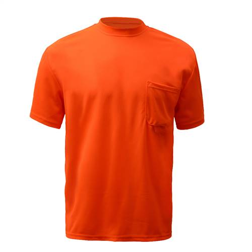 GSS Safety 5502 Moisture Wicking Short Sleeve Safety T-Shirt with Chest Pocket - Orange