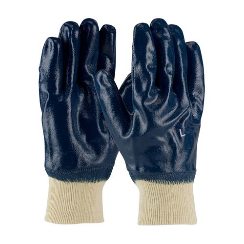 PIP 56-3152 ArmorTuff Nitrile Dipped Glove with Jersey Liner and Smooth Finish on Full Hand - Knitwrist - Box/12 Pairs