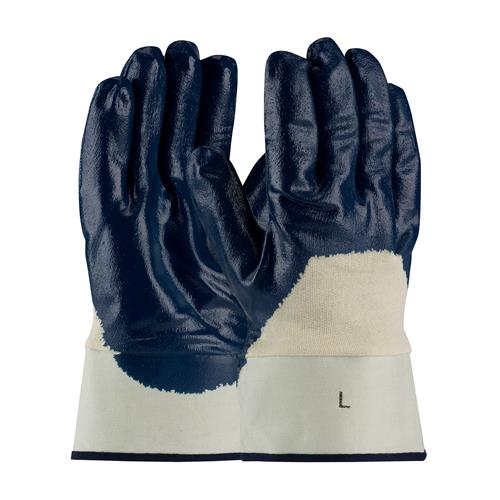 PIP 56-3153 ArmorTuff Nitrile Dipped Glove with Jersey Liner and Smooth Finish on Palm, Fingers & Knuckles - Plasticized Safety Cuff - Box/12 Pairs