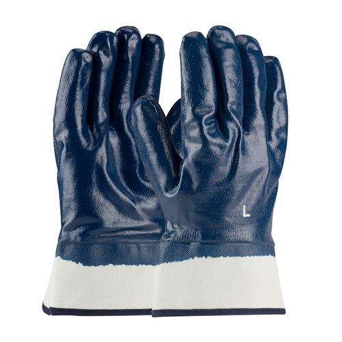 PIP 56-3154 ArmorTuff Nitrile Dipped Glove with Jersey Liner and Smooth Finish on Full Hand - Plasticized Safety Cuff - Box/12 Pairs
