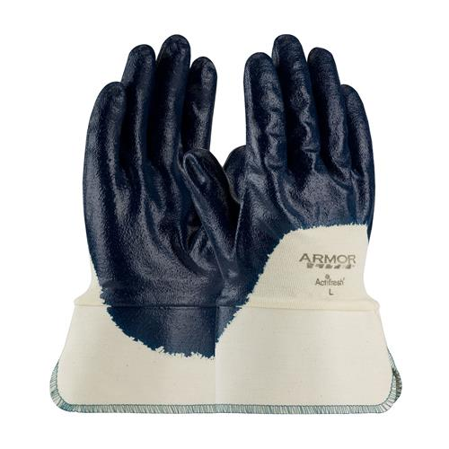 PIP 56-3175 ArmorLite Nitrile Dipped Glove with Interlock Liner and Smooth Finish on Palm, Fingers & Knuckles - Plasticized Safety Cuff - Box/12 Pairs