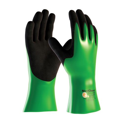 "PIP 56-630 MaxiChem Nitrile Blend Coated Glove with Nylon / Lycra Liner and Non-Slip Grip on Palm & Fingers - 12"" - Box/12 Pairs"