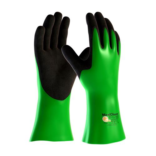 "PIP 56-635 MaxiChem Nitrile Blend Coated Glove with Nylon / Lycra Liner and Non-Slip Grip on Palm & Fingers - 14"" - Box/12 Pairs"