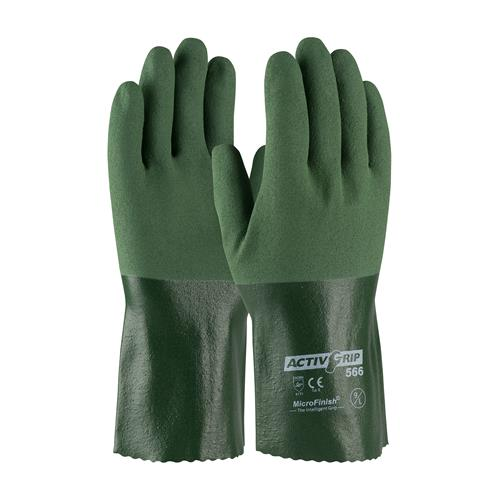 "PIP 56-AG566 ActivGrip Nitrile Coated Glove with Cotton Liner and MicroFinish Grip - 12"" - Box/12 Pairs"