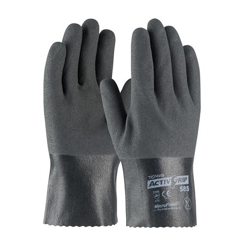 "PIP 56-AG585 ActivGrip Nitrile Coated Glove with Cotton Liner and MicroFinish Grip - 10"" - Box/12 Pairs"
